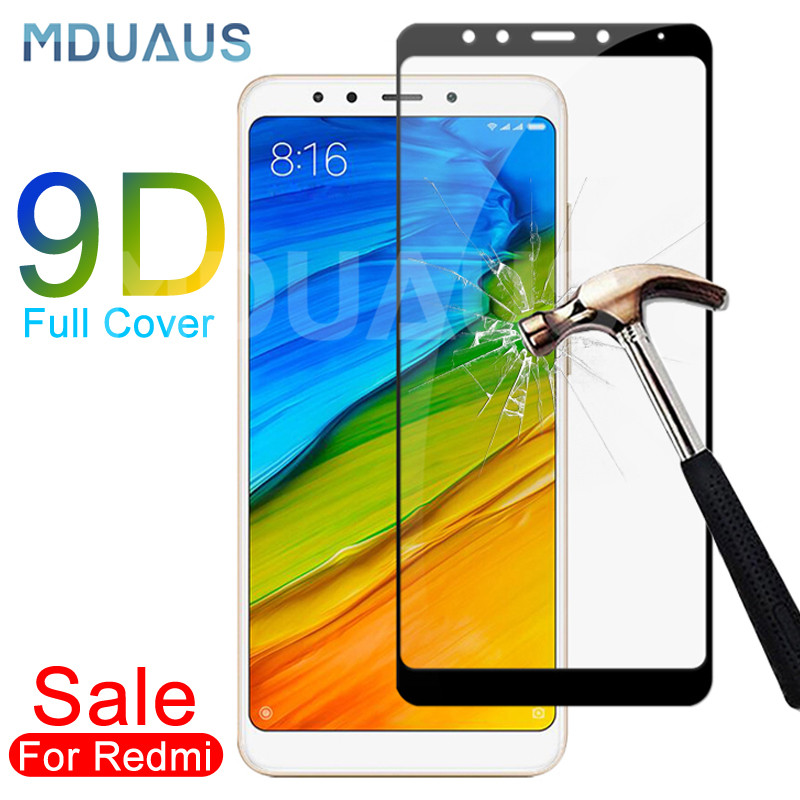 9D Tempered Glass For Xiaomi Redmi 5 Plus 5A S2 Go K20 Note 5 5A Pro Screen Protector Redmi 4 4X 4A Safety Protective Glass Film(China)