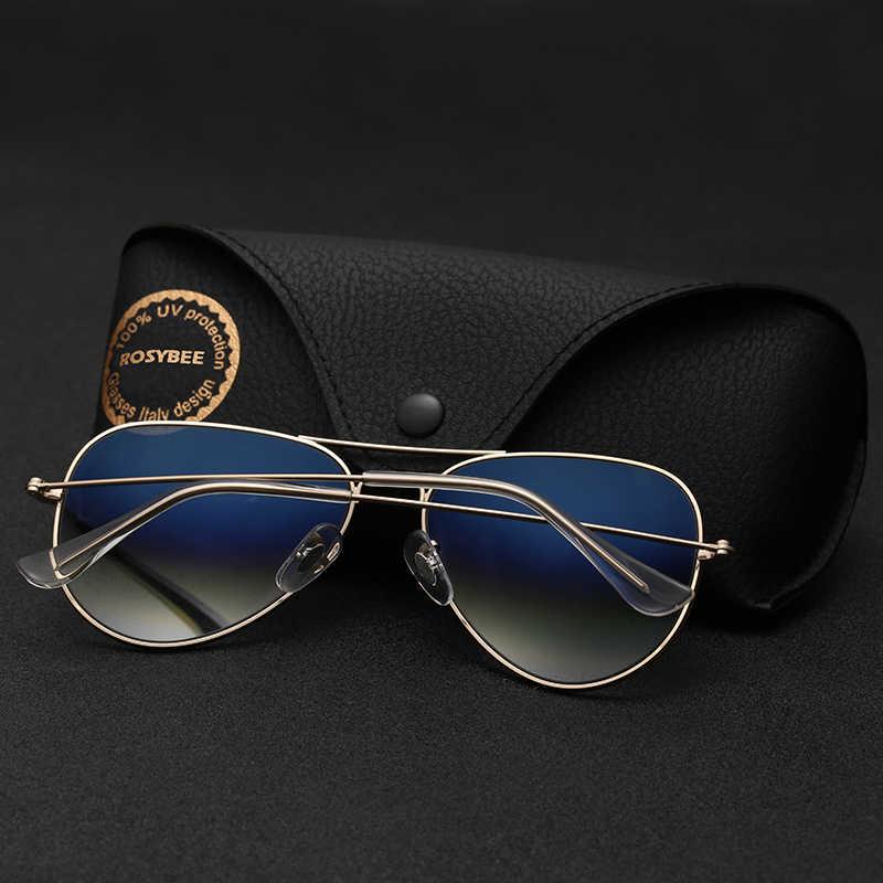 Super Quality Gradient Glass Lens fashion woman men Sunglasses cool aviation brand classic female oculos banned man sun Glasses