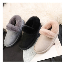 winter snow boots fashion confortable ankle Botas Mujer Plush Ladies faux fur women soft
