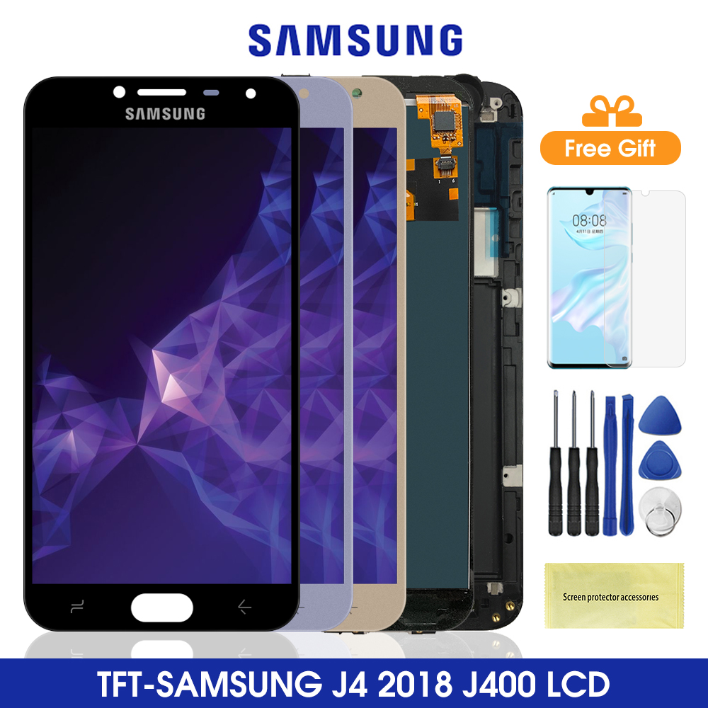 J400 lcd para samsung galaxy j4 2018 tela de toque digitador assembléia para samsung j400 j400f j400f/ds lcds