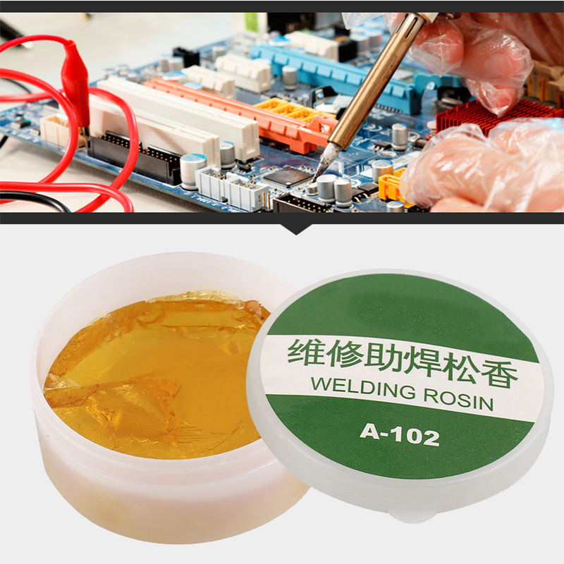 Solder Paste Yellow Soldering Iron Head Rosin Flux Welding Tool Scaling Powder Durable Repair Solid Rosin Paste