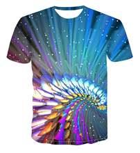 Новинка 2020 летняя Стильная мужская футболка красочная креативная