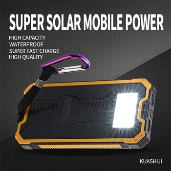 Huge Capacity Solar Power Bank 30000mAh Dual-USB Waterproof Solar Power Bank Battery Charger For All Phone Iphone Huawei Xiaomi 3