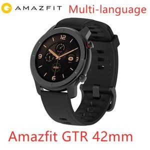 Image 1 - Amazfit GTR 42 مللي متر ساعة ذكية هوامي 5ATM مقاوم للماء الرياضة Smartwatch 24 أيام بطارية تحكم بالموسيقى مع نظام تحديد المواقع معدل ضربات القلب