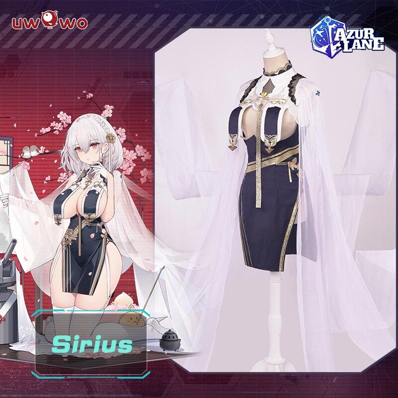 【Pre-sale】UWOWO Game Azur Lane Sirius Cheongsam Ver. Cosplay Costume Light Cruiser Sexy Women Dress