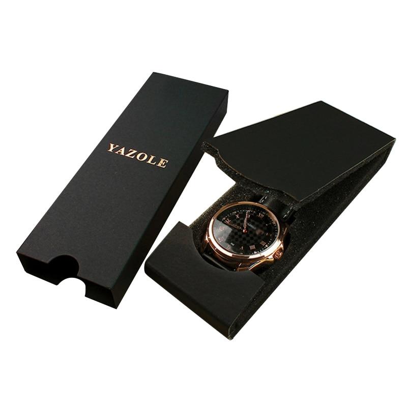 Portable Black Foldable Watch Box Lightweight Folding Watch Boxes Storage Gift Box Rectangle Shaped Wrist Watch Organizer
