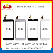 цена на 10Pcs/lot Touchscreen For Huawei Ascend G620 G620S Touch Panel Sensor Digitizer G620S Touch Screen Lens Glass Replacement