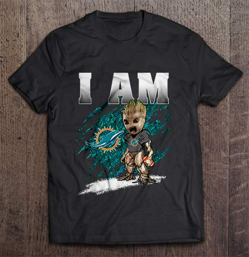I Am Miami Streetwear Harajuku 100%Cotton Men'S Tshirt Dolphins Groot Tshirts