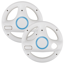 цена на 2Pcs Gaming Steering Wheel For Nintendo Wii Kart Racing Game Steering Wheel Remote Controller Game Accessories