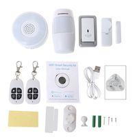 1Set Smart Home WiFi Security Alarm Kit Gateway Hub Door Window Sensor PIR Detector Automation Home Security System for Alexa Go