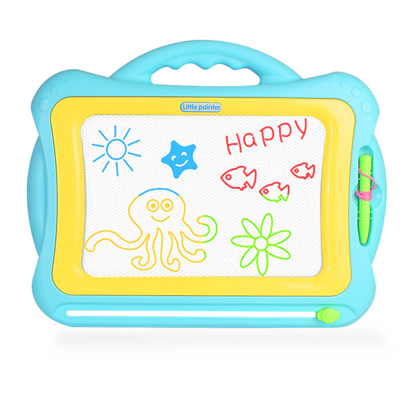 Douyin Celebrity Style Children Writing Board Magnetic Drawing Board Large Size Baby Doodle Board Stamp Toy Holder 3-Year-Old Ki