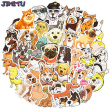 50 pçs cão dos desenhos animados adesivos legal estilo diferente cães adesivo animais bonito corgi dachshund no portátil suprimentos para animais de estimação festa presente do miúdo