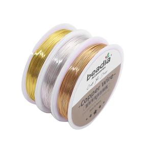0.3-0.8mm Silver/Gold Copper Wire Jewelry Cord String Colorfast Beading Wire Metal Thread For DIY Bracelet Necklace Craft Making