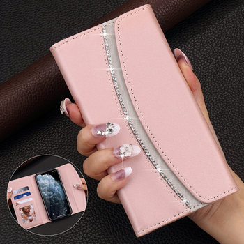 Flip Wallet Case for IPhone 11 Pro X Xr Xs Max Bling Glitter Phone Bag Cover for IPhone 12 Pro Max 7 Plus 8 6S 6 5 SE2 12 Mini