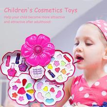 Детская косметика, игрушки для девочек, игровой домик, набор игрушек для макияжа, набор для девочек, лак для ногтей, помада, милый детский подарок