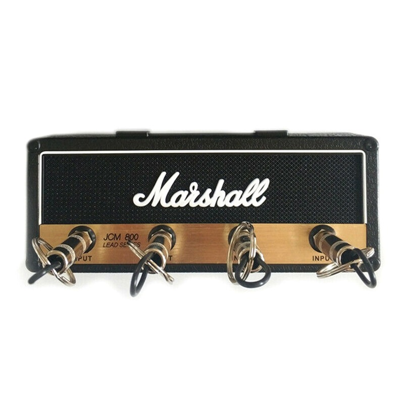 Key Storage Marshall Guitar Keychain Holder Jack II Rack 2.0 Electric Hanging Key Rack Amp Vintage Amplifier JCM800 Standard