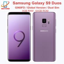 Samsung Galaxy S9 Duos G960FD 4 Гб ОЗУ 64 Гб ПЗУ две Sim-карты Octa Core глобальная версия 5,8