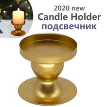 Candle-Holder Iron Gold-Decorative Wedding New for LED Party Festival Festival