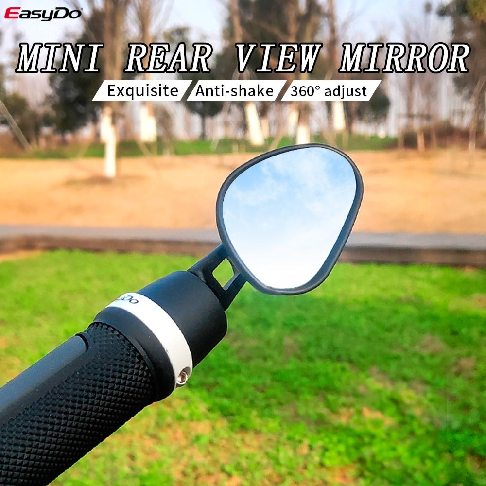 Зеркало заднего вида Easydo для велосипеда, миниатюрное изысканное противоударное на руль велосипеда, скутера, электровелосипеда
