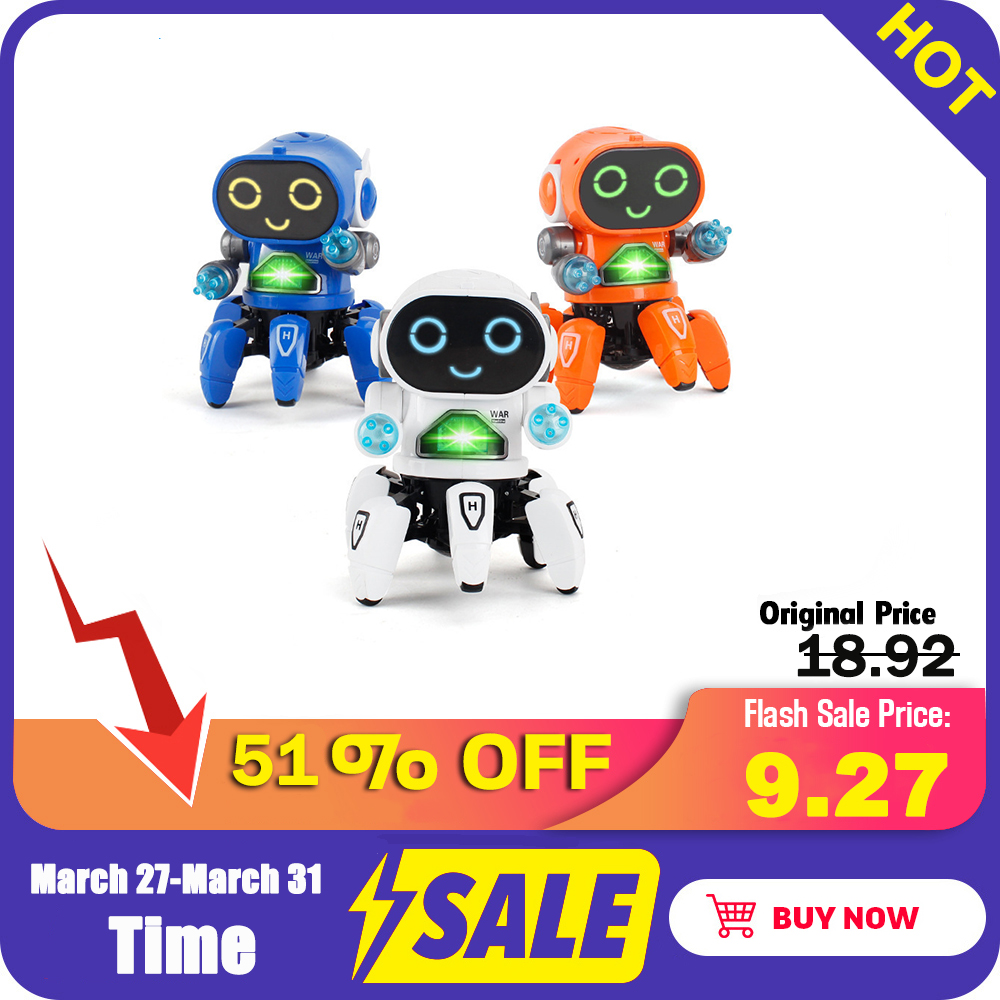Robot Toy Intelligent Robot Mini RC Robot Toys Walking Singing Dancing Led Light Kids Educational Toys Gift