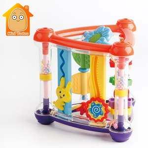 Image 1 - Toys For Baby 0 12 Months Activity Play Cube Infant Development Educational Hanging Toys Newborn Rattle Toy New Born Boy Girl