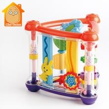 Zabawki dla dziecka 0-12 miesięcy aktywność zagraj w kostkę niemowlę rozwój edukacyjne wiszące zabawki noworodek grzechotka zabawka noworodek chłopiec dziewczyna tanie tanio Mini Tudou Z tworzywa sztucznego CN (pochodzenie) Unisex Baby Activity Cube Toy 0-12 MIESIĘCY 13-24 miesiące 3 lat 3 lat