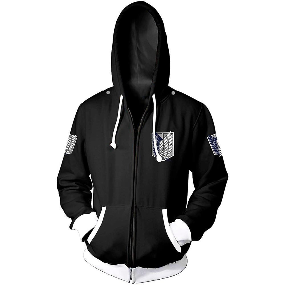 Anime shingeki no kyojin Cosplay Costume Attack on Titan Hoodies Cloak Men Women Jacket Coat no Tsubasa 3D Printed Sweatshirts