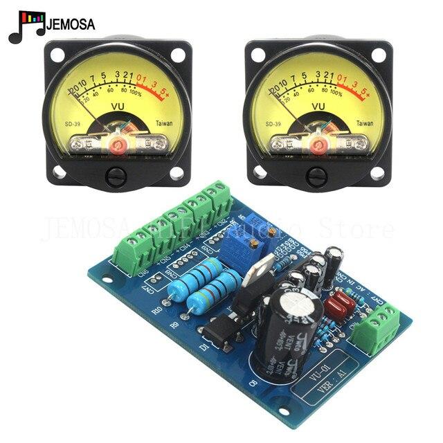 2 ADET Paneli VU Metre 500VU Sıcak Arka Işık Ses Seviyesi Ölçer Amplifikatör Gösterir Ve 1 ADET Dayanıklı VU sürücü panosu ücretsiz Kargo
