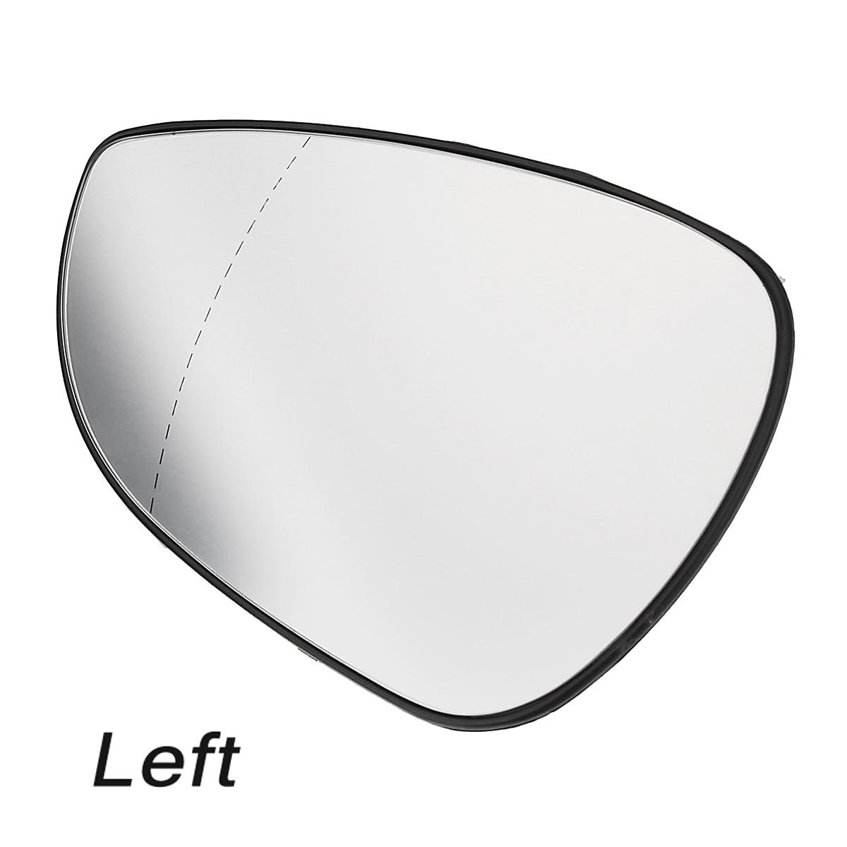 Black Manual Left Rear View Wing Mirror