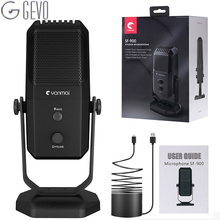 GEVO USB Microphone Condenser Professional Recording Studio Four Directivity With Compatible Mic For YouTube Video Recording KTV