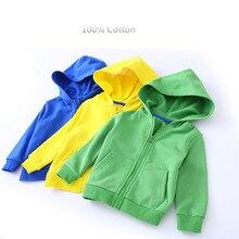 子供服ジャケット子供のフード付きジッパーキャンディーカラースポーツベビーファッションプリントコート幼児防水のためのパーカー