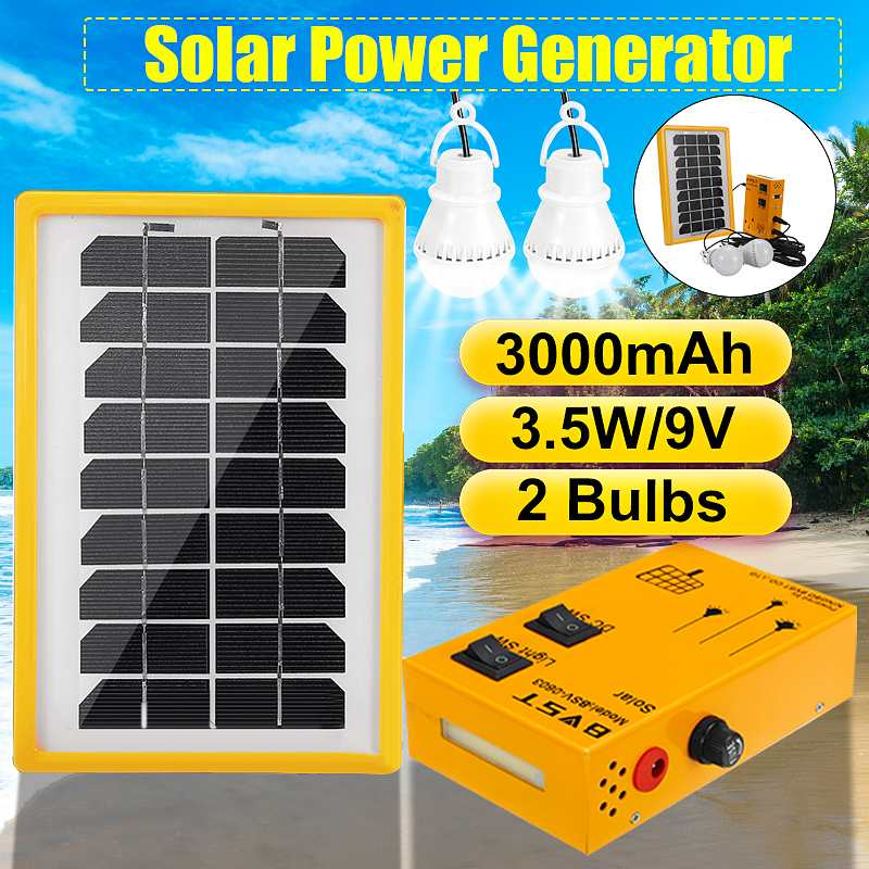 Solar Power Panel Generator Outdoor Power Mini DC 9V Solar Panel Home System Charging LED Lighting System