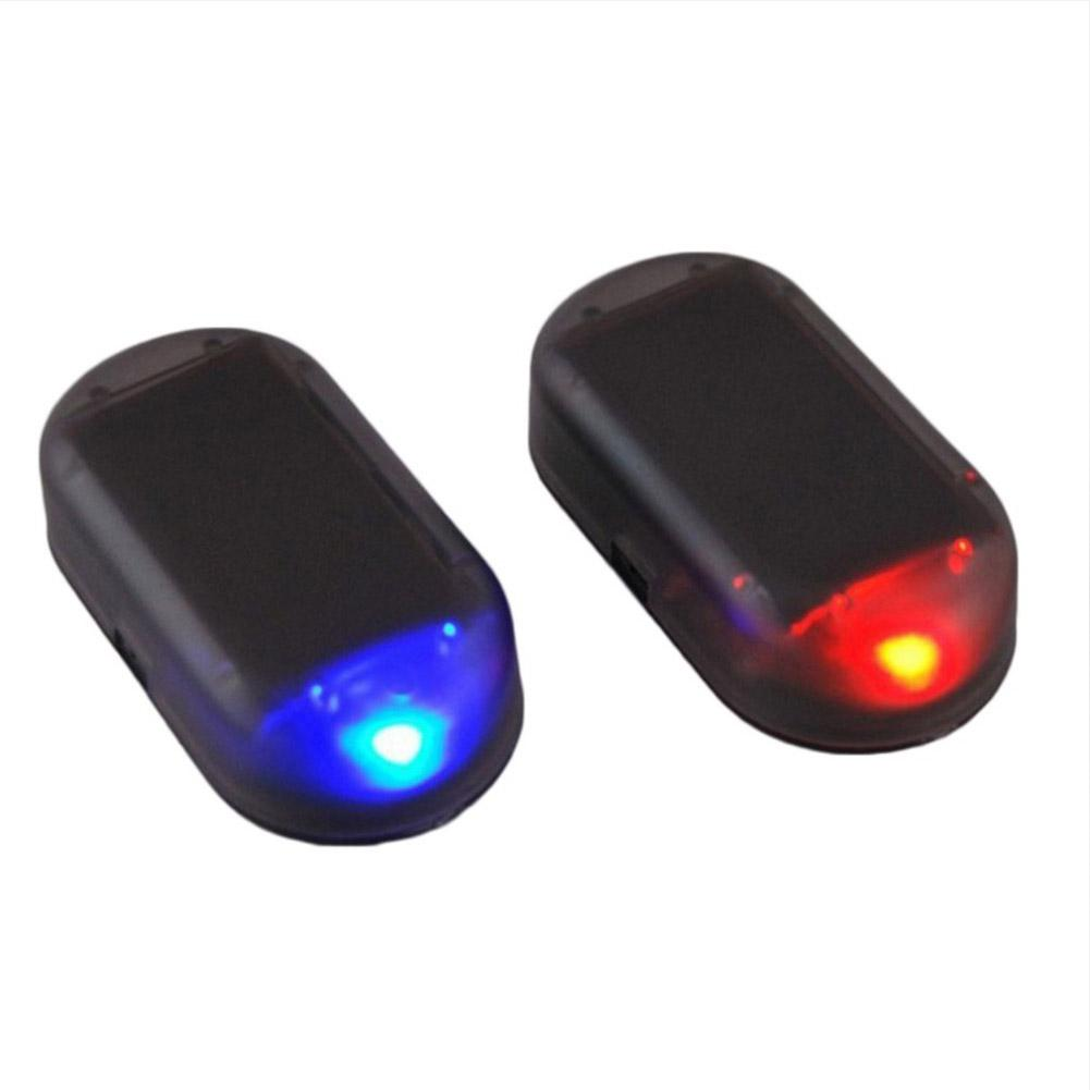 1pcs LED Alarm Lights Simulate Imitation Solar Security System Warning Flash Anti-Theft Lamp Universal Interior For Car