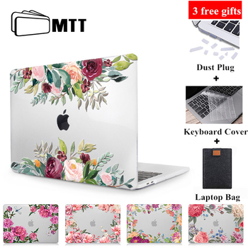 цена на MTT Flower Laptop Case For Macbook Air 13 inch Crystal Cover for macbook air pro retina 11 12 13 15 16 Touch Bar Laptop Sleeve