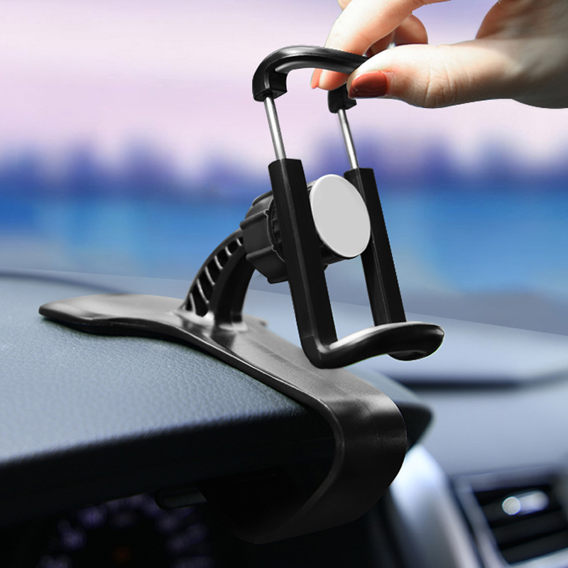 Dashboard Mount Phone Holder In Car HUD GPS Flexible Clip Universal Stand Bracket Support For 4 To 6 Inch Mobile Smartphones
