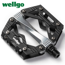 Wellgo Ultralight Bicycle Pedals Flat Alloy Pedals Mountain Bike Pedals 9/16