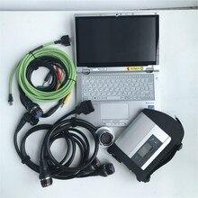 12 в диагностический инструмент для MB Vehicle Star C4 SD подключения компактный 4 установленное программное обеспечение используется планшет CF-AX2 i5 8G ноутбук