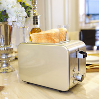 Donlim/DF DL 8117 Toaster Household 2 PCs Breakfast Toaster Stainless Steel Roast Toaster|Sandwich Makers|   -