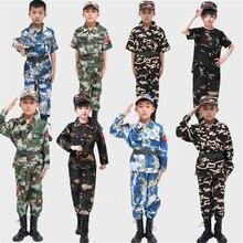 Детская камуфляжная тактическая Униформа, комплект для охоты, Мужская военная одежда, военные куртки и штаны, Детская армейская одежда для косплея костюмы