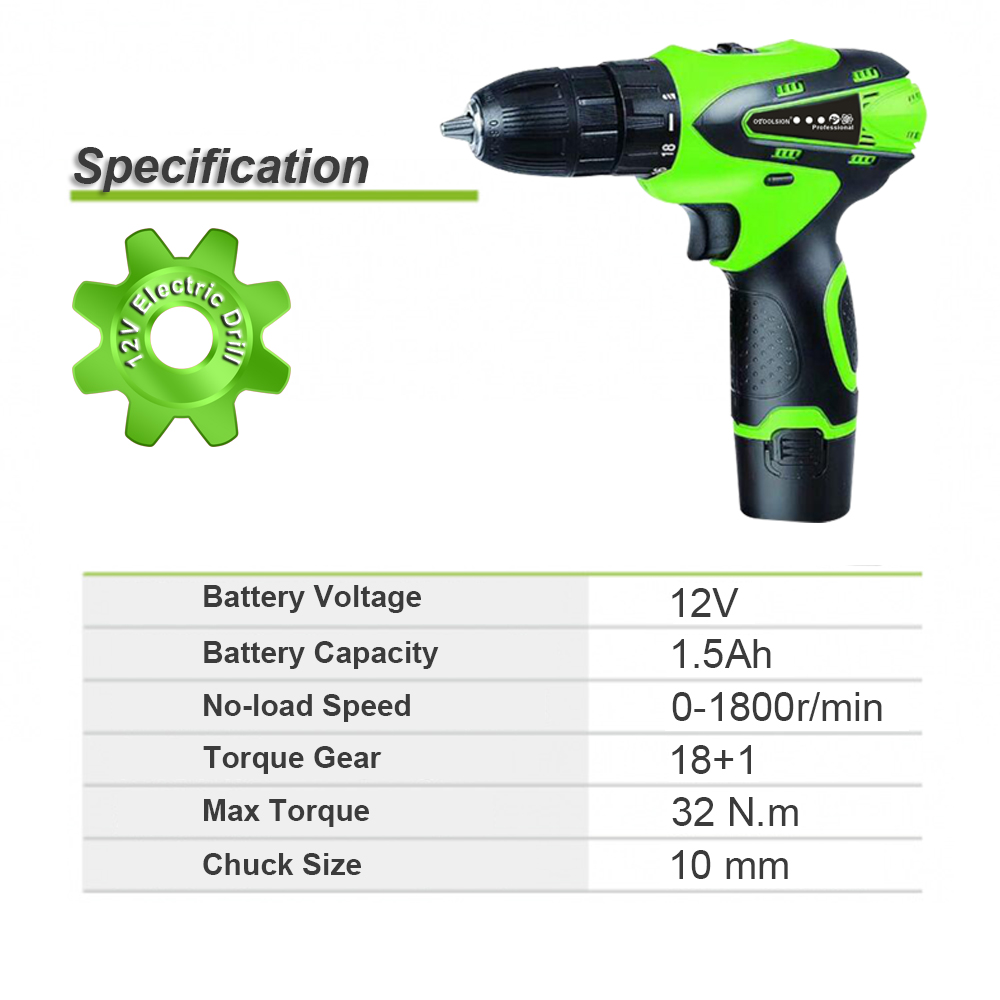 12V 1500mah Small Drill Cordless Drill Power Tools Mini Electric Drill Charging Drill Screwdrivers With 2 Batteries For DIY Home (6)