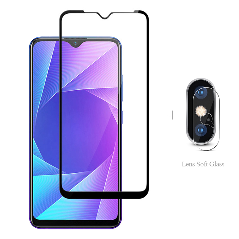 Full Cover Tempered Glass + Camera Protective Glass For Realme X2 Pro XT Q 5 3i X Lite C2 C1 3 2 Real me 5pro 3pro Glass Film