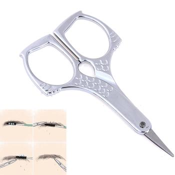 Nożyczki do Manicure ze stali nierdzewnej nożyczki do skórek nożyczki do brwi trymer do brwi rzęsy do włosów w nosie nożyczki do paznokci narzędzia do makijazu tanie i dobre opinie HNKMP CN (pochodzenie) Jedna jednostka Stainless steel Eyebrow Hair Scissor