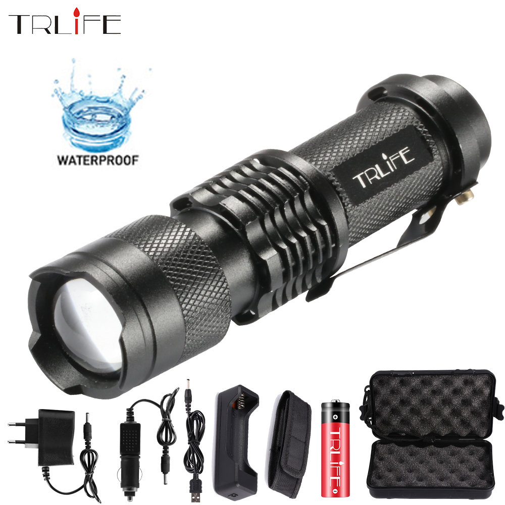 LED Flashlight Penlight L2 T6 Led Torch 8000LM Zoom 5 Modes Lanterna Waterproof Tactical Torch Free Shipping Use 18650 Battery
