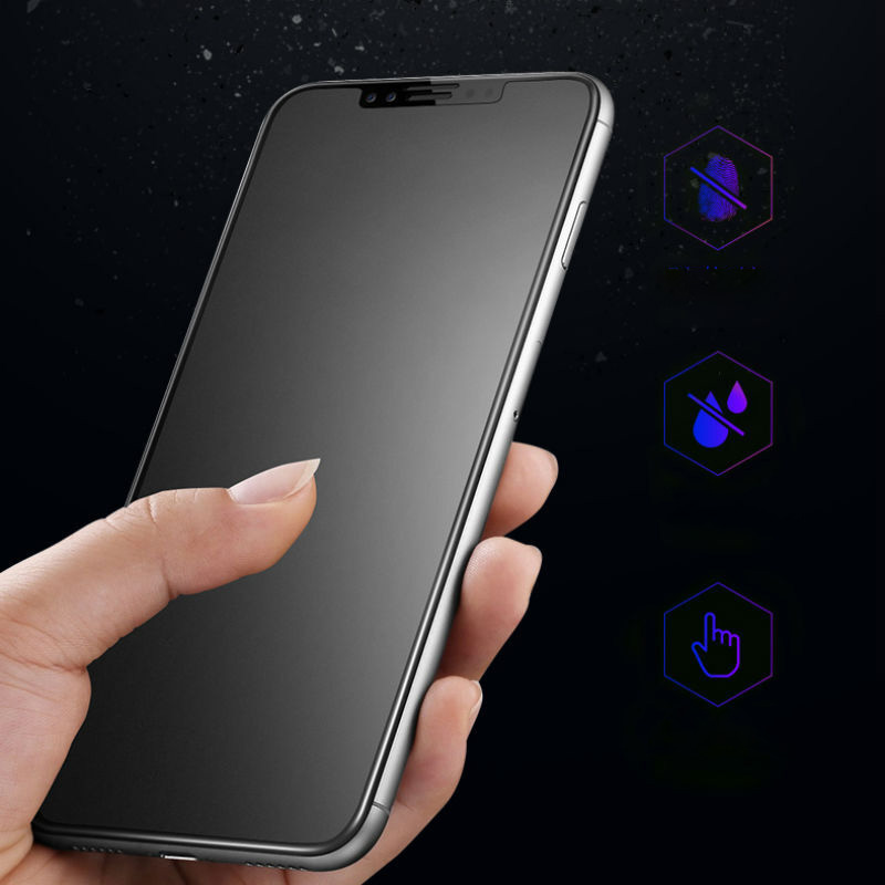 Für <font><b>iPhone</b></font> 11 Pro Max Matte Frosted Anti <font><b>Fingerprint</b></font> Gehärtetem Glas Screen Protector für <font><b>iPhone</b></font> X 5S SE <font><b>6</b></font> 6S 7 8 Plus XS Max XR image