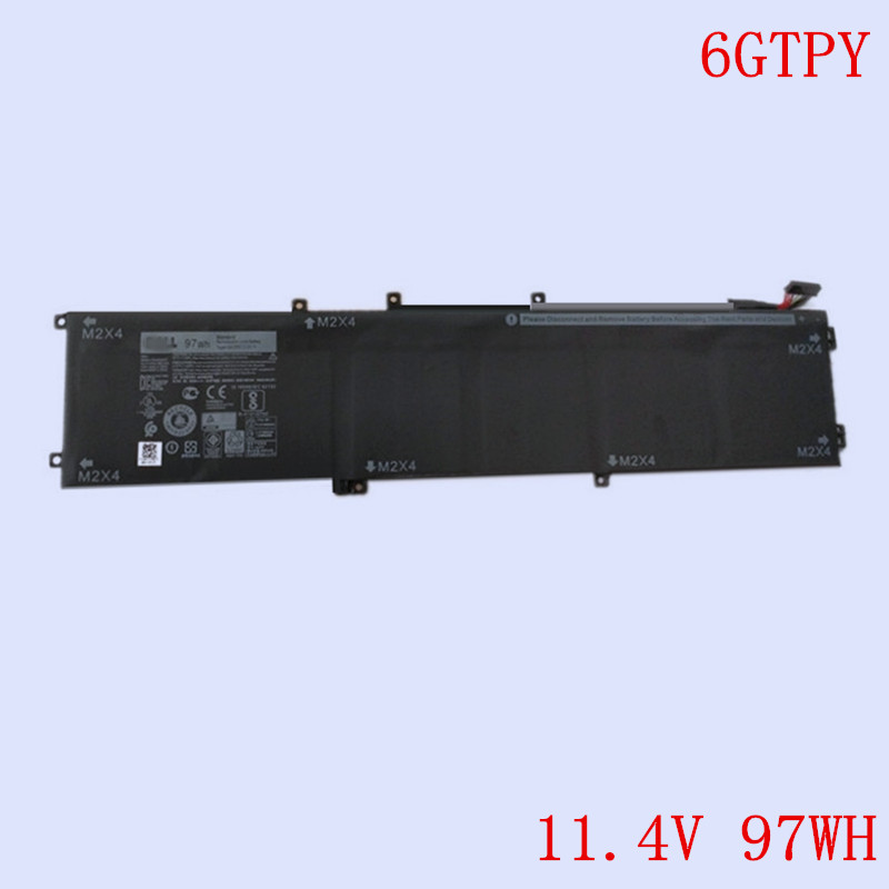 New Original Laptop Li-ion Battery 6GTPY for DELL Precision XPS15 XPS 15 9550 9560 series 11.4V 97WH 8083mAh image