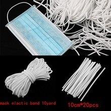 Face-Mask Strap Rubber-Band Nose Rope Elasticity 10yardscord DIY 10pcs Adjuster