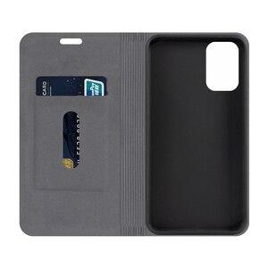 Image 2 - עור מפוצל ארנק מקרה עבור Xiaomi Redmi הערה 10s עסקים טלפון מקרה עבור Xiaomi Redmi הערה 10 4g מקרה רך סיליקון כיסוי אחורי