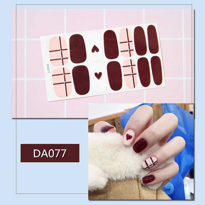Nail Sticker Nail Wraps Volledige Cover Nail Art Tips Stickers Voor Nagels Lijm Diy Manicure Slider Nail Art Sticker Nail sliders