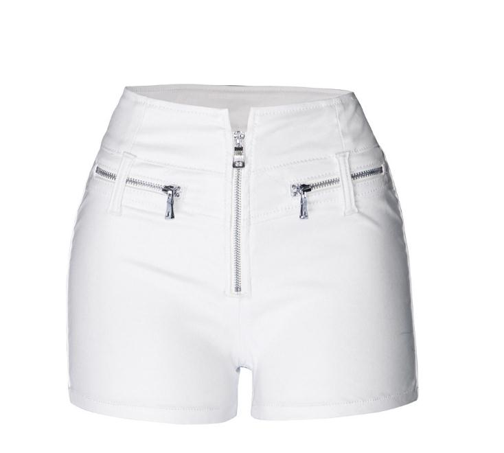 Women Sexy Mini Shorts Rivet Holes Jeans Low Waist Shorts Without Belt Ripped Denim Short 5