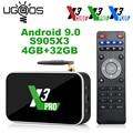 Ugoos X3 Pro 4 Гб Оперативная память 32GB DDR4 Amlogic S905X3 Смарт ТВ коробка Android 9,0 двухъядерный процессор Wi-Fi 1000 м 4K X3 Cube 2G/16G X3 плюс 64G Декодер каналов кабел...